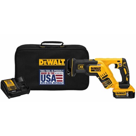 DeWalt DCS367P1 20v Max Brushless Compact Reciprocating Saw Kit (5.0 (20v Max Compact)