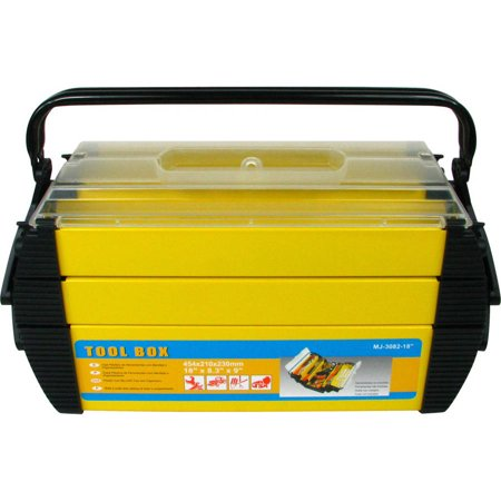 Stalwart Deluxe Steel And Plastic Toolbox