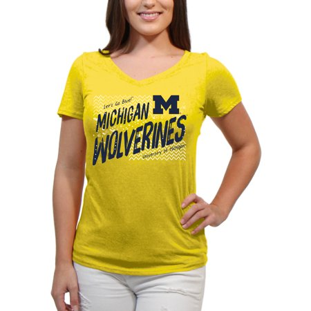 Sterling Silver Michigan Wolverines Charm (Michigan Wolverines Scatter Doodle Women'S/Juniors Team Short Sleeve V Neck Tee)