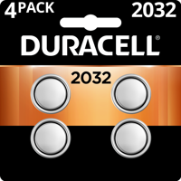 Duracell 3V Lithium Coin Battery 2032 4 Pack