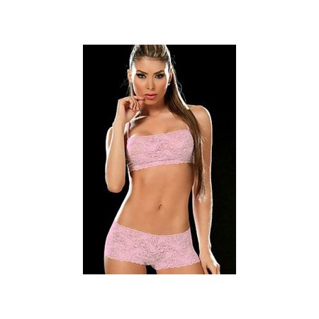 Grupo Espiral Llc Pink Two Piece Lace Cami Set 206 P Pink
