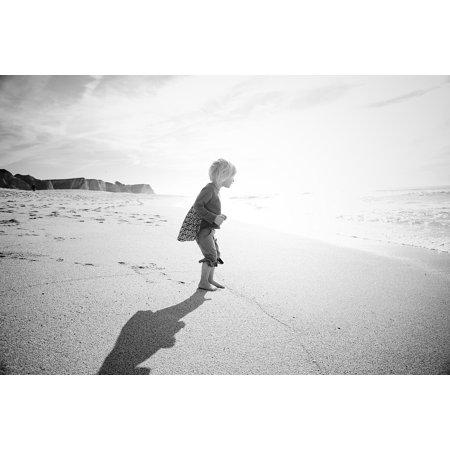 Canvas Print California Sand San Francisco Shadows Beach Ocean Stretched Canvas 10 x 14
