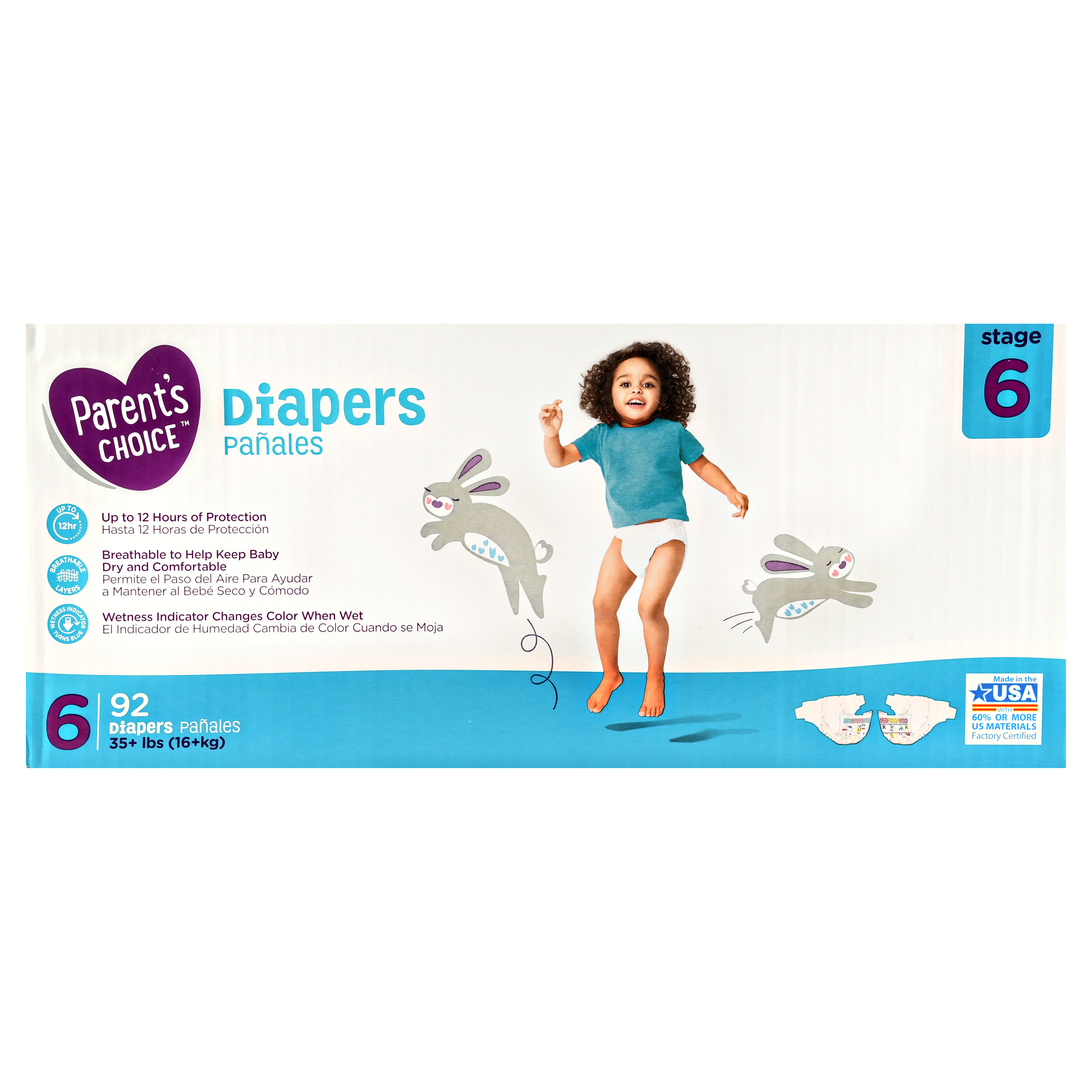 Parent's Choice Diapers, Size 6, 92 Diapers