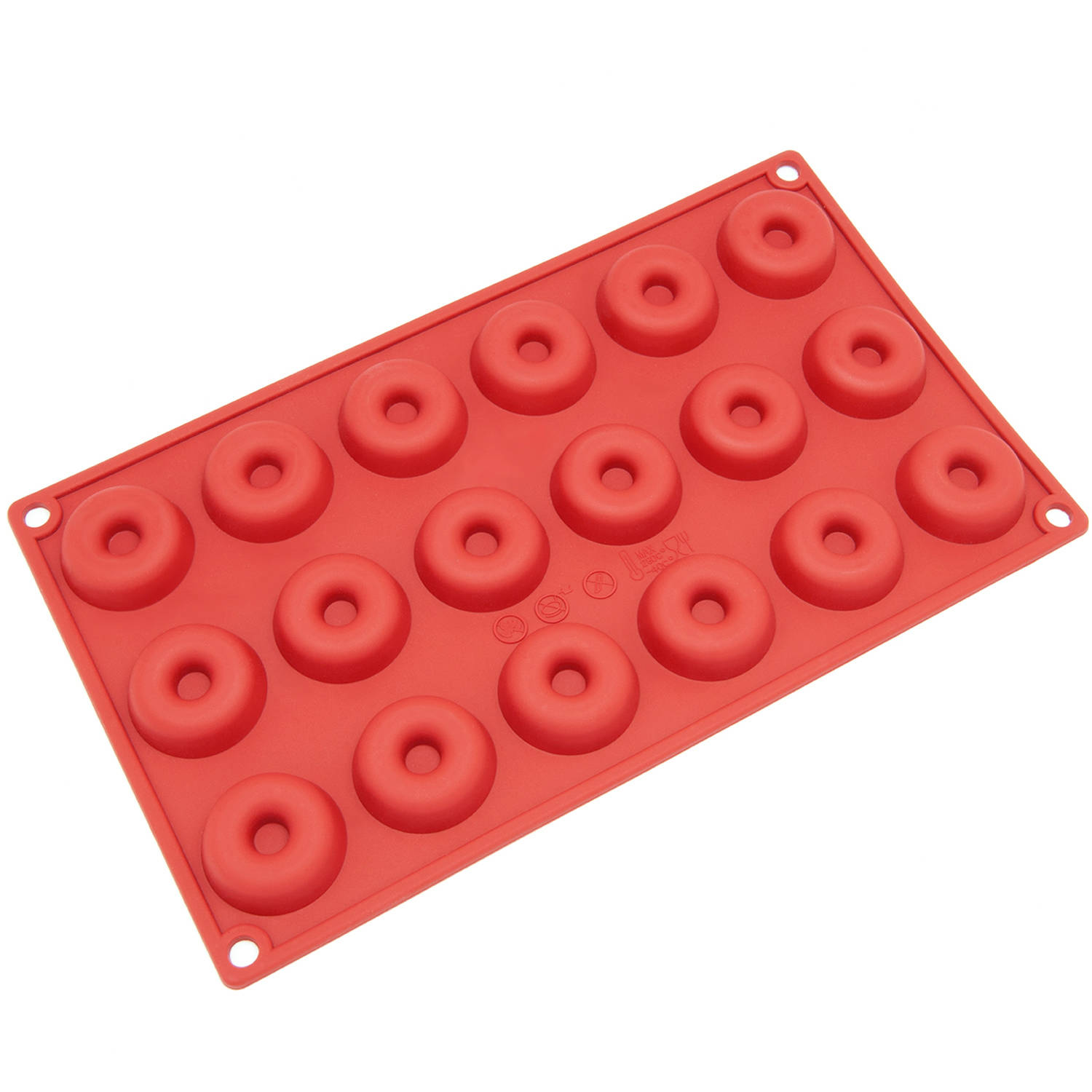 Click here to buy Freshware 18-Cavity Mini Donut Silicone Mold for Chocolate, Candy and Gummy, SM-102RD by Overstock.