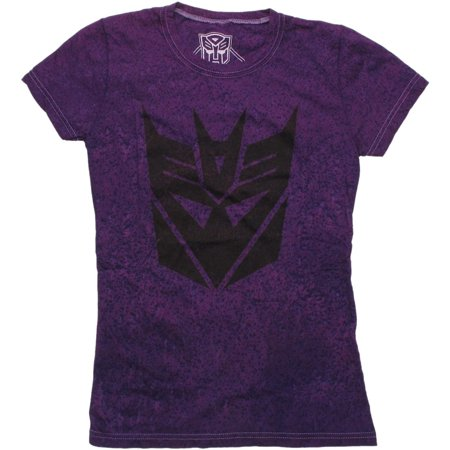 Transformers Decepticon Stencil Distressed Baby Tee - Girls Transformers