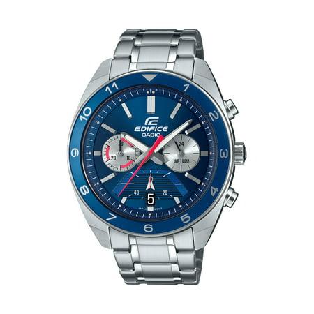 Casio Men's Edifice Chronograph Watch, Blue Dial