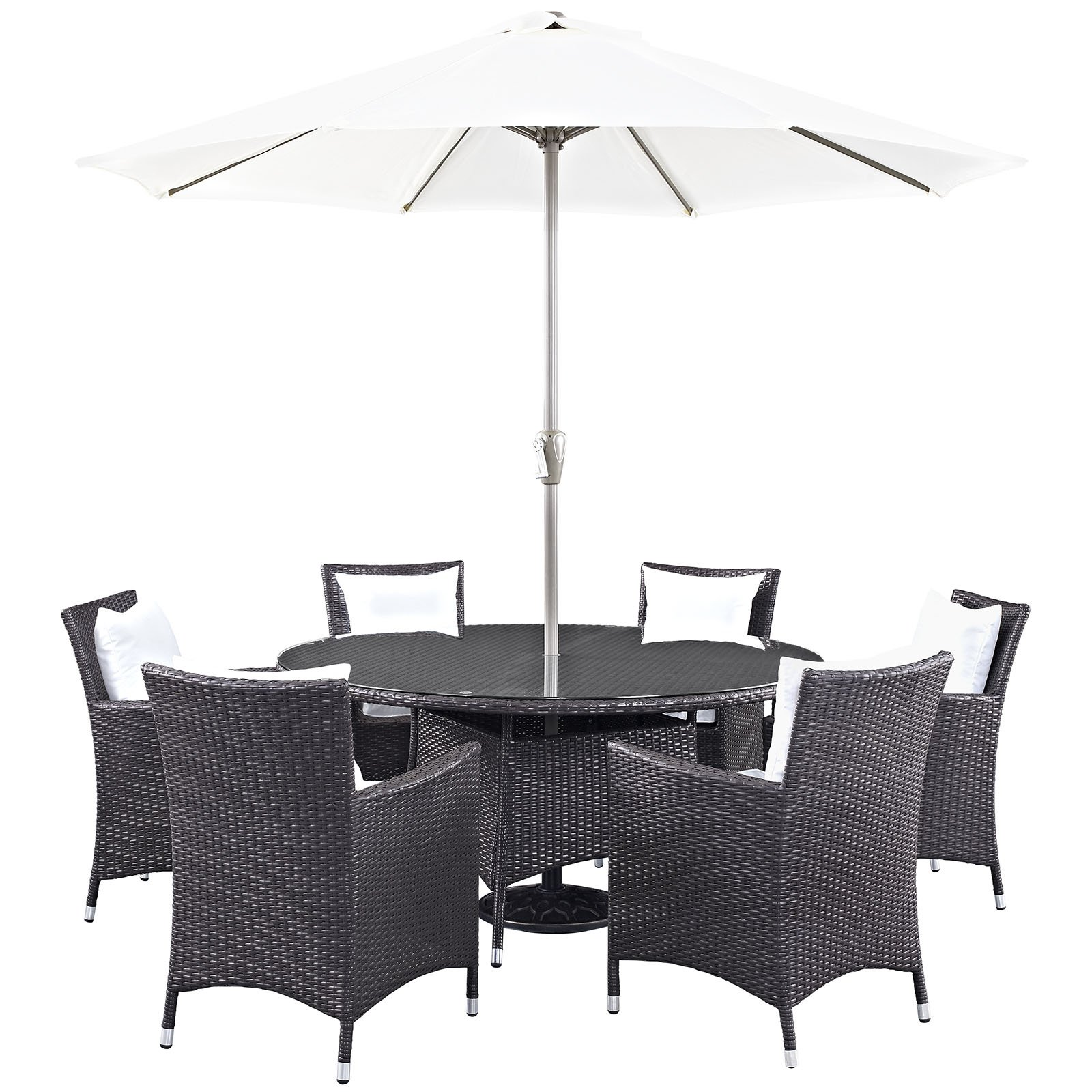 Modway Convene 8 Piece Outdoor Patio Dining Room Set, Multiple Colors by Lexmod