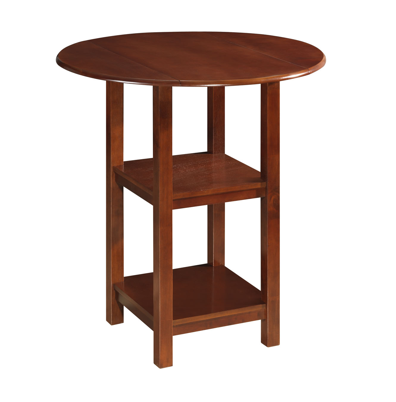 Boraam 72342 Powellton Double Drop Leaf Pub Table, Cherry
