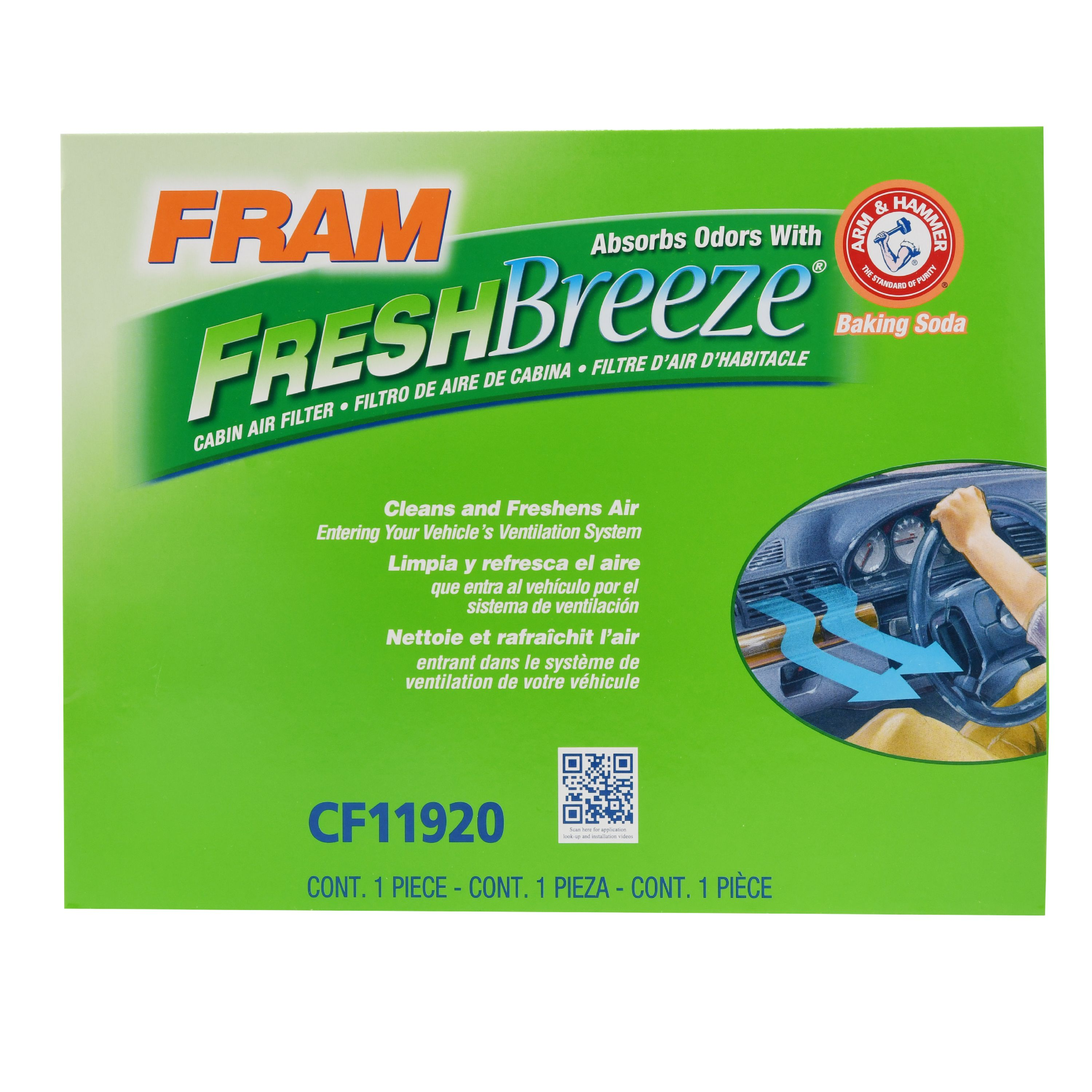 FRAM Fresh Breeze Cabin Air Filter, CF11920