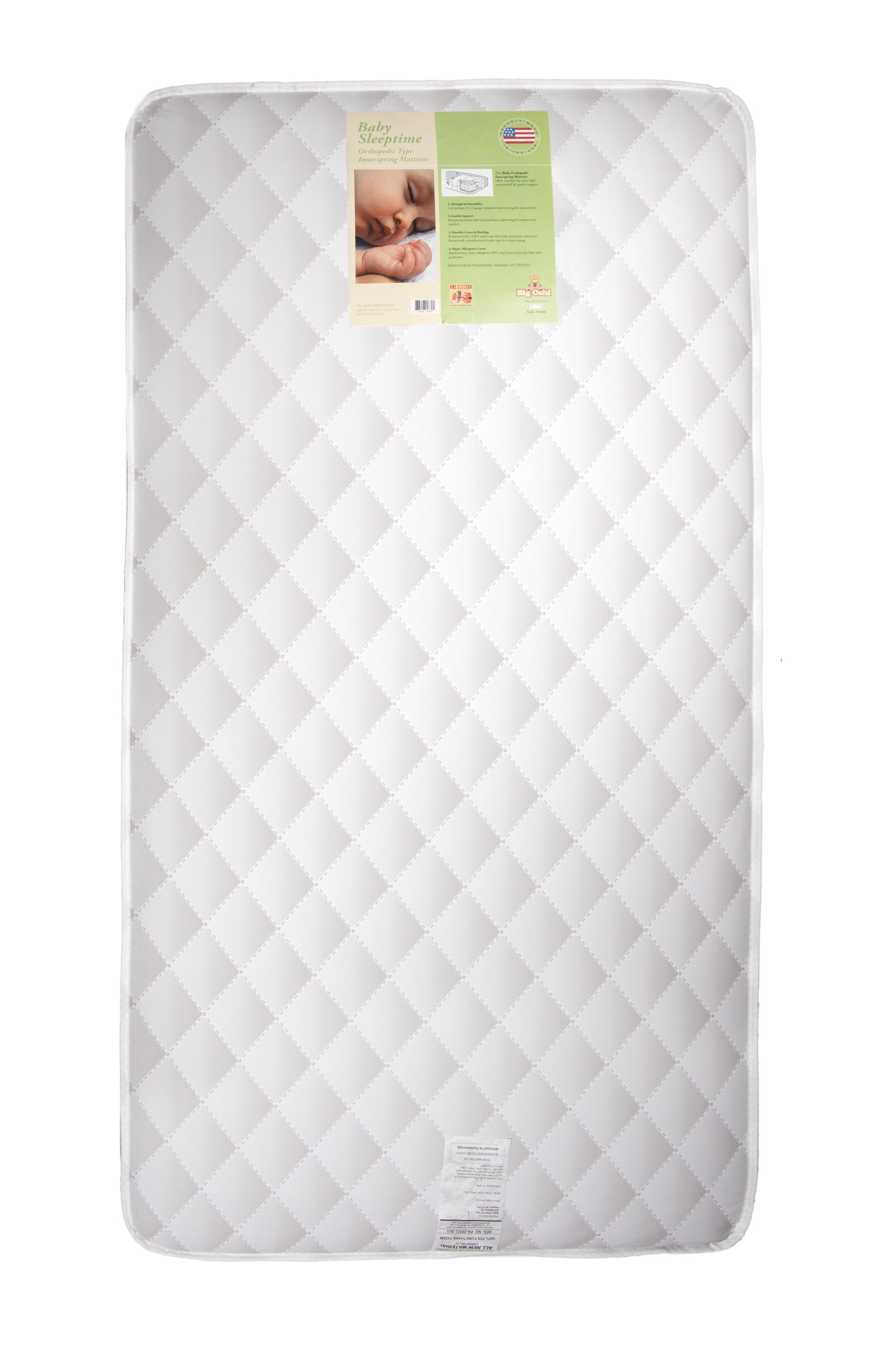 """Big Oshi Full Size Baby Crib Mattress 5.8"""" Thick Orthopedic Innerspring Mattress 96 Coil Springs With... by Big Oshi"""