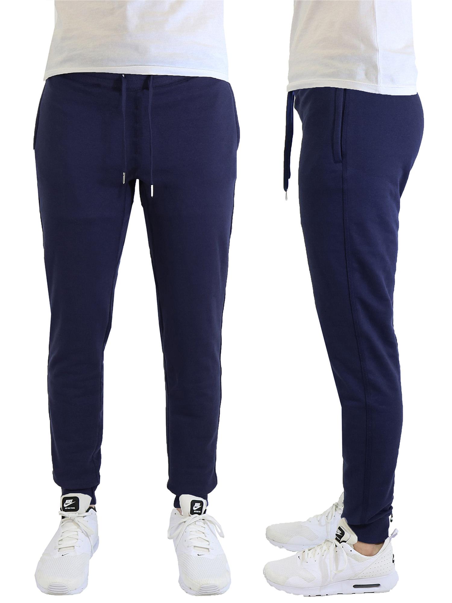Men's Soft-Fleece Joggers With Zipper Pockets