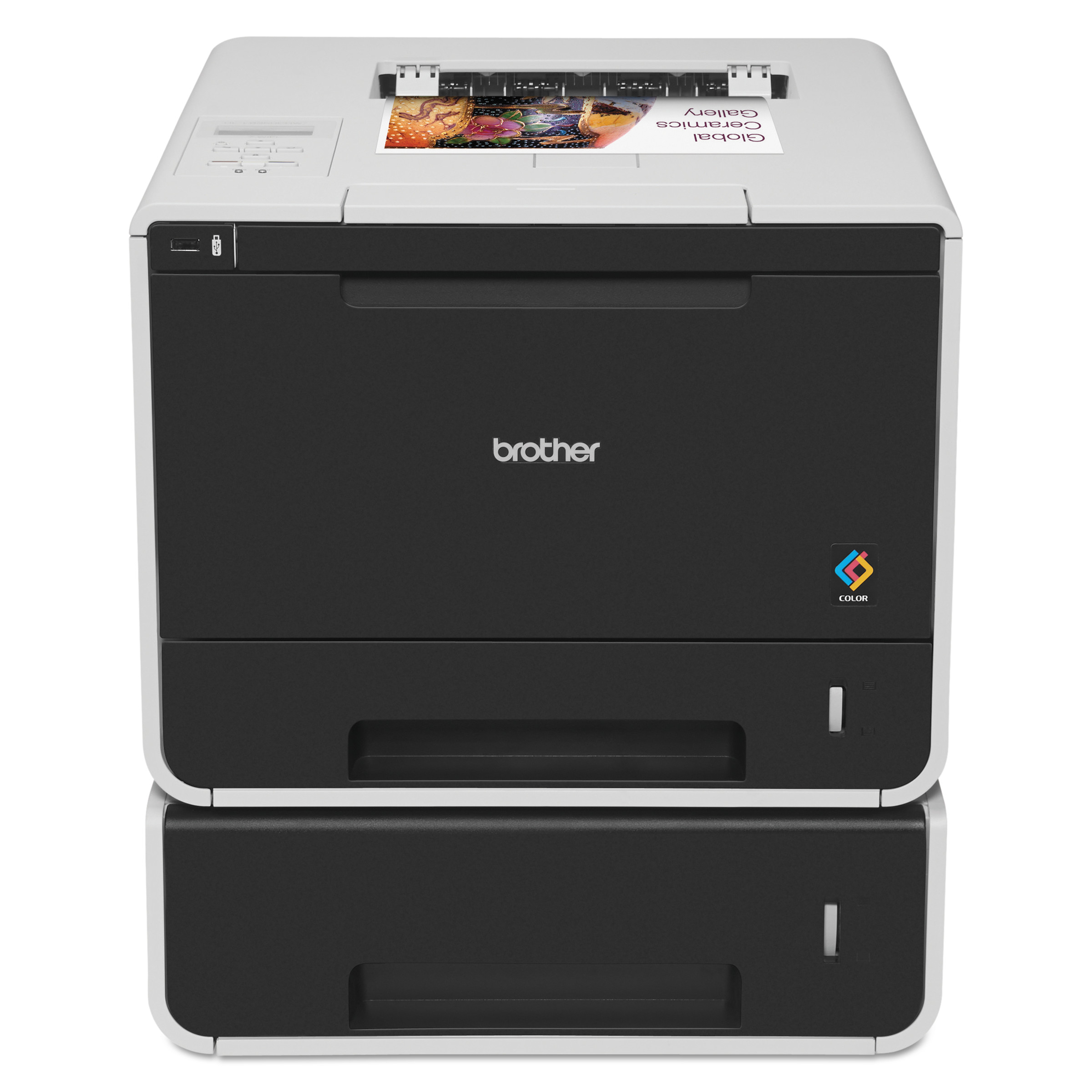 brother hl l8350cdwt color laser printer with wireless networking and dual paper trays