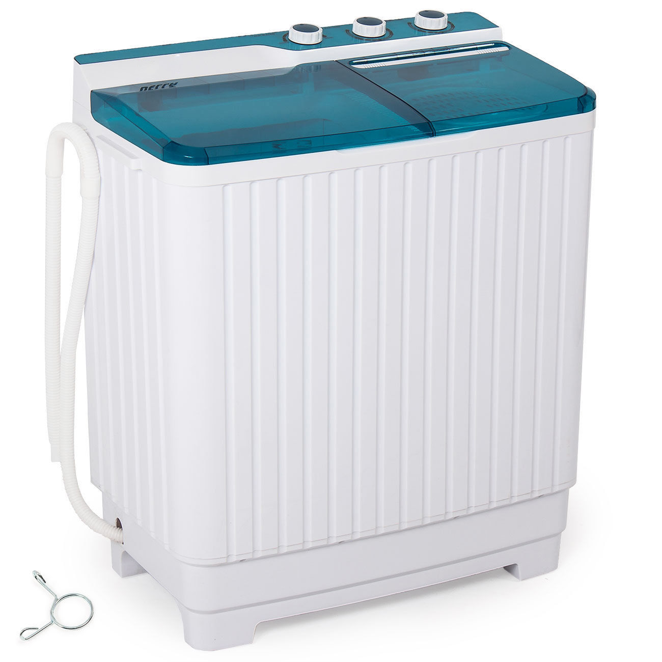 GHP 300W 19.8-Lbs Load Capacity White & Blue Washing Machine with Built-in Drain Pump