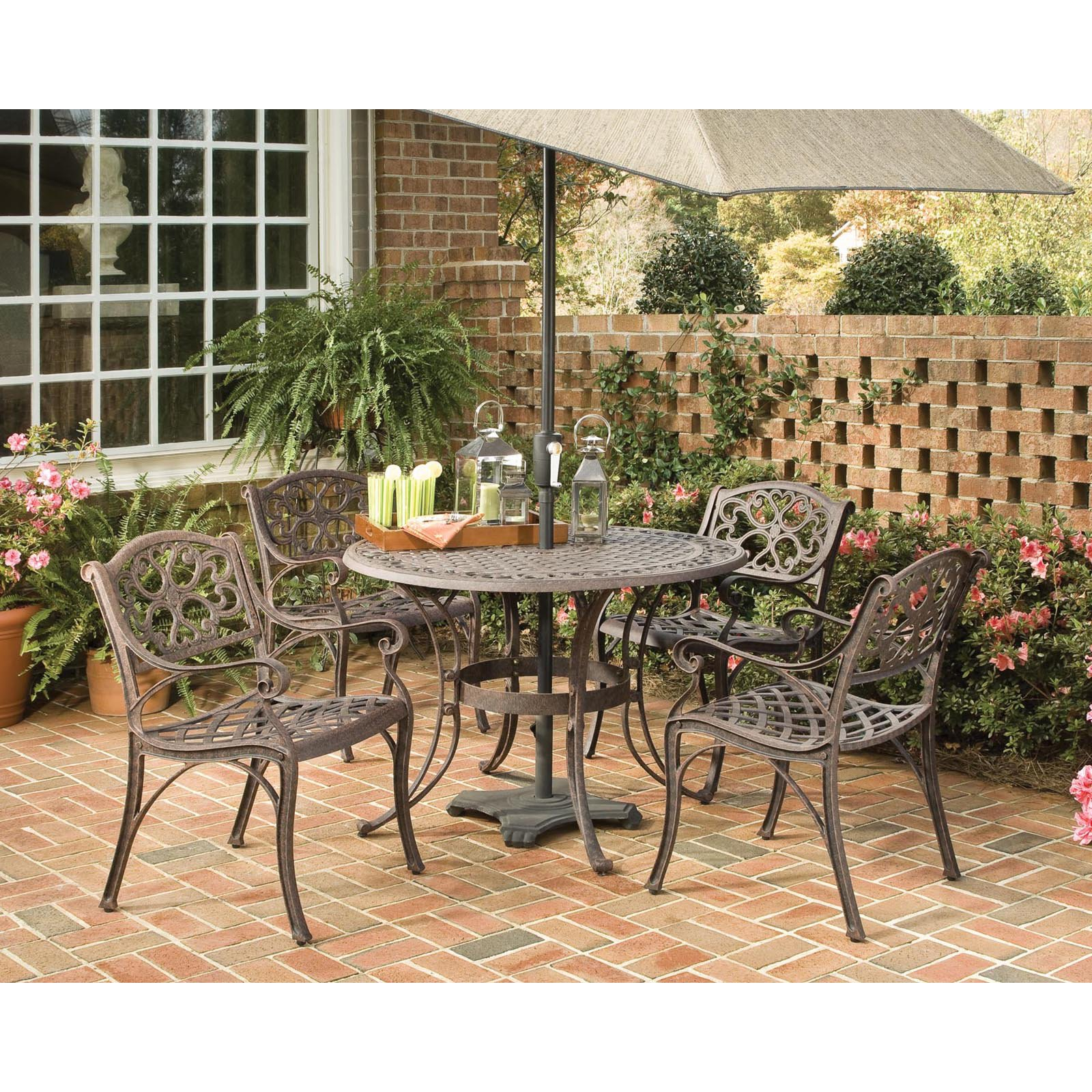 Home Styles Biscayne 5 Piece 42 Round Dining Set Multiple Finishes