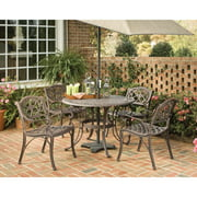 """Home Styles Biscayne 5 Piece 42"""" Round Dining Set, Multiple Finishes"""