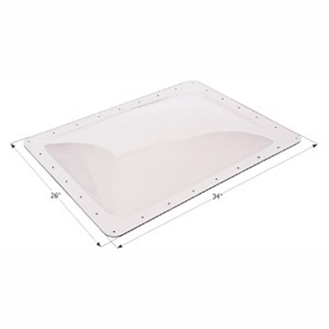 "26/"" x 34/"" Flange RV Skylight 4/"" Bubble Type Dome Rectangular 22/""x 30 White"