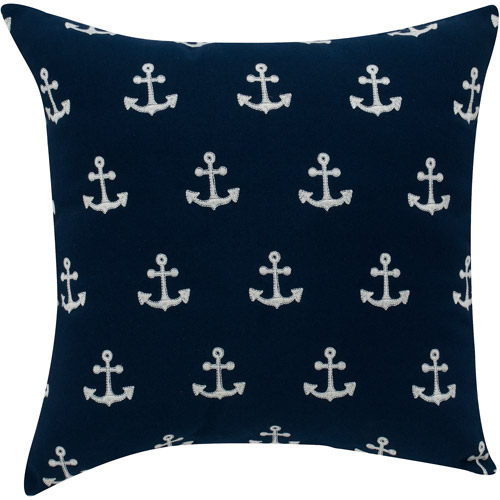 Better Homes and Gardens Anchor Decorative Pillow, Navy