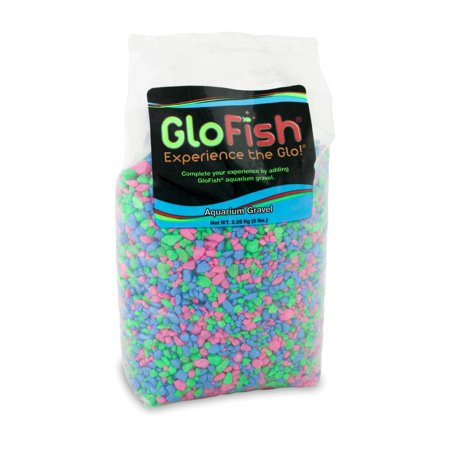 (2 Pack) GloFish Pink/Green/Blue Aquarium Accent Gravel, 5 lb
