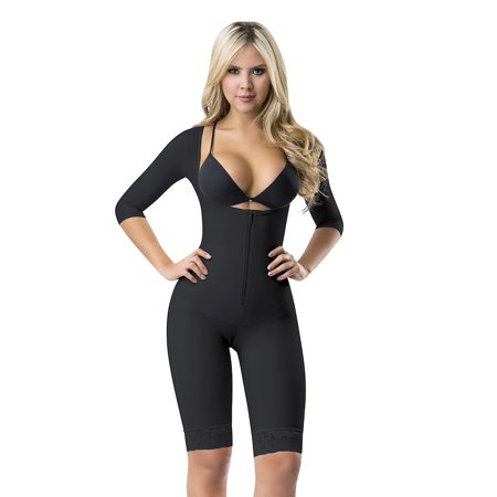 Perfect Shape Women Shapewear 3061 Top To Knees Arms And Thighs Full Body Shaper Black 2XL