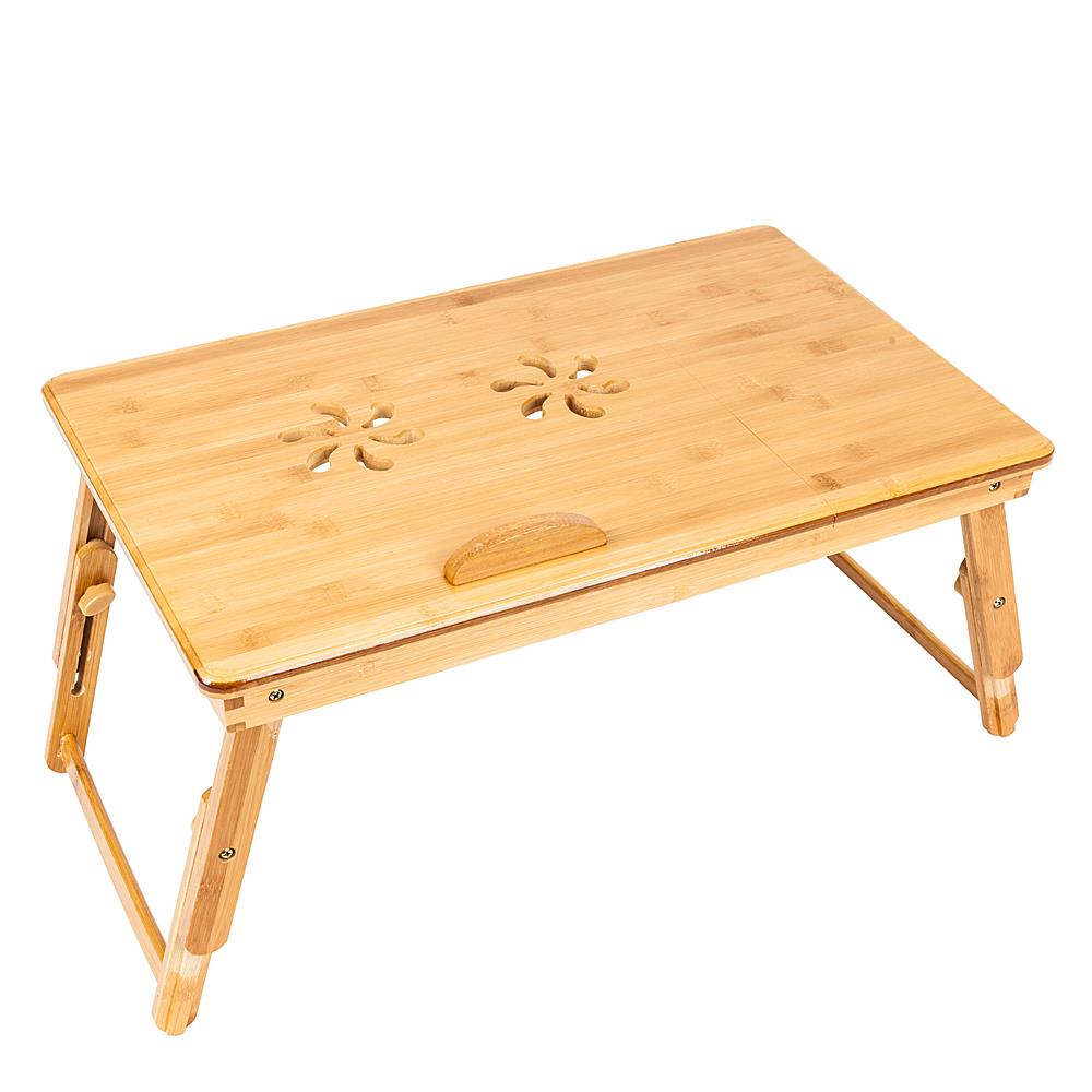 Ktaxon Bamboo Folding Laptop Table Lap Desk Bed Portable Computer Tray Stand Holder Wood Read