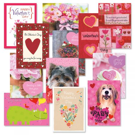 Valentine's Day Greeting Cards - Set of 12 ( 1 of each design)