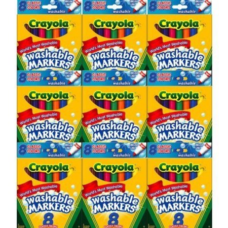 Crayola Washable Markers  Broad Line  Assorted Bold Colors  Pack Of 72  58 7832