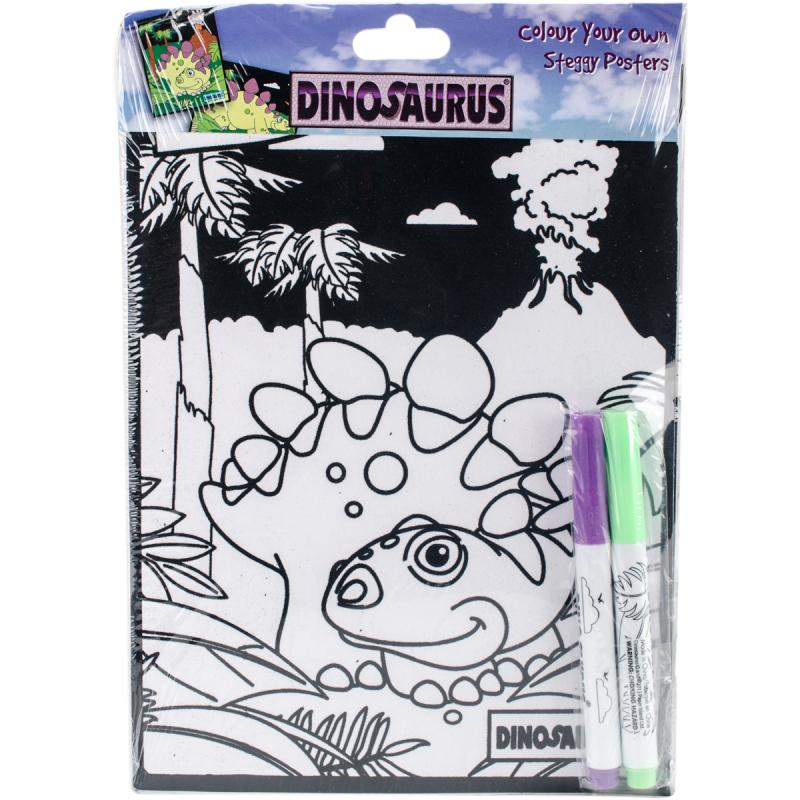 Dinosaurus Color Your Own Poster-steggy