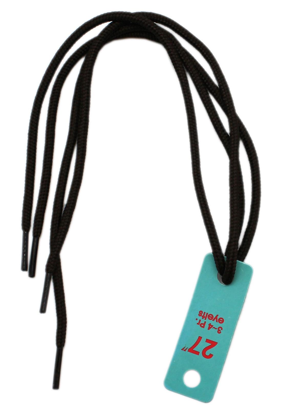 Black Round Athletic Shoelaces - 36