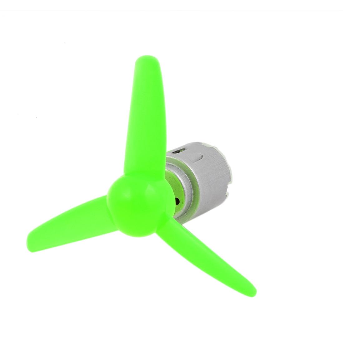 5 Pcs DC 6.0V 0.13A 5000RPM Motor 80mm 3-Vanes Pointed Propeller Green - image 5 de 6
