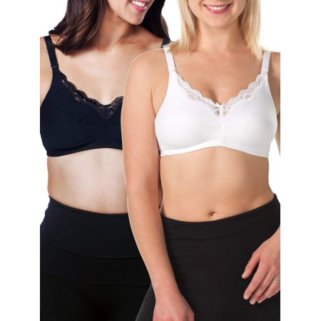Loving Moments by Leading Lady Maternity to Nursing Wirefree Bra 2 Pack, Style L347