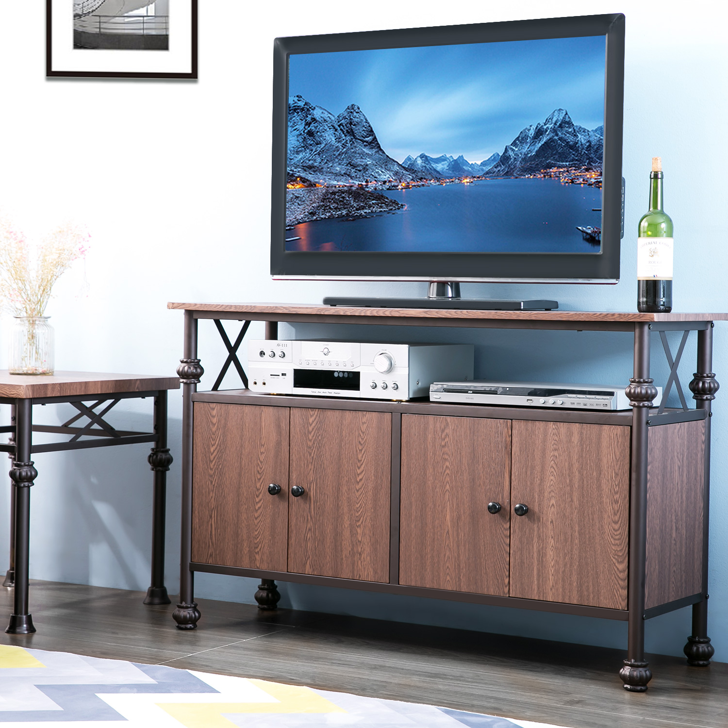 "Harper&Bright Designs TV Stand for TVs up to 52"", Multiple Colors"