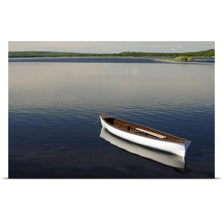 Great Big Canvas John Sylvester Poster Print Entitled Canoe On Gander River  Gander Bay  Newfoundland And Labrador  Canada