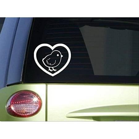 Sexy Chick Sticker - Chick Heart *I859* 6x6 inch Sticker chicken decal