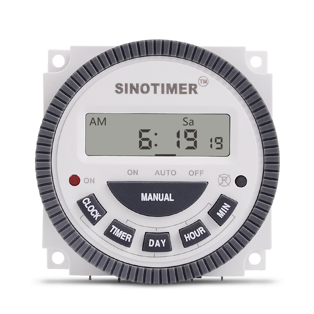 Sinotimer 220v 10a Weekly 7 Days Programmable Digital Time Switch On Off Relay Timer Control For Electric Appliance With Alarm Clock