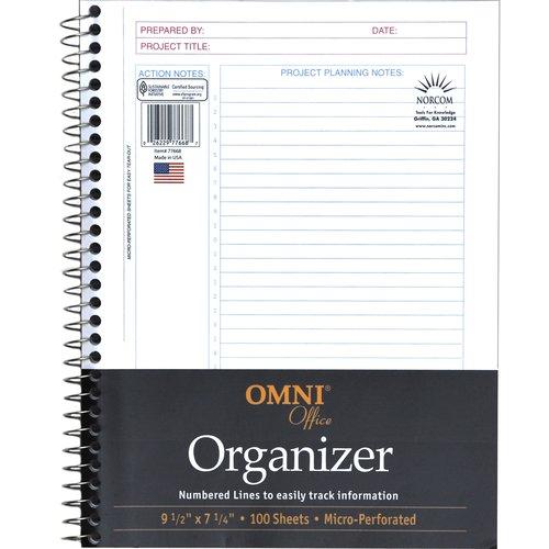 "Omni Office 100-Page Premium Organizer, 9.5"" x 7.25"""