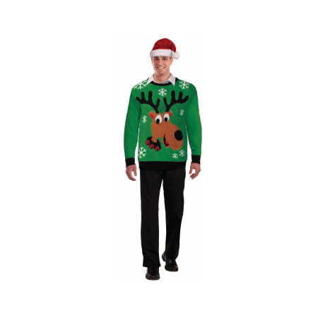 CHRISTMAS SWTR-REINDEER-XL - Adult Ugly Christmas Sweater