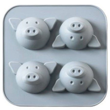 AkoaDa Pigs Cake Jelly Cookies Soap Mold Chocolate Baking Mould Tray Tools Great ()