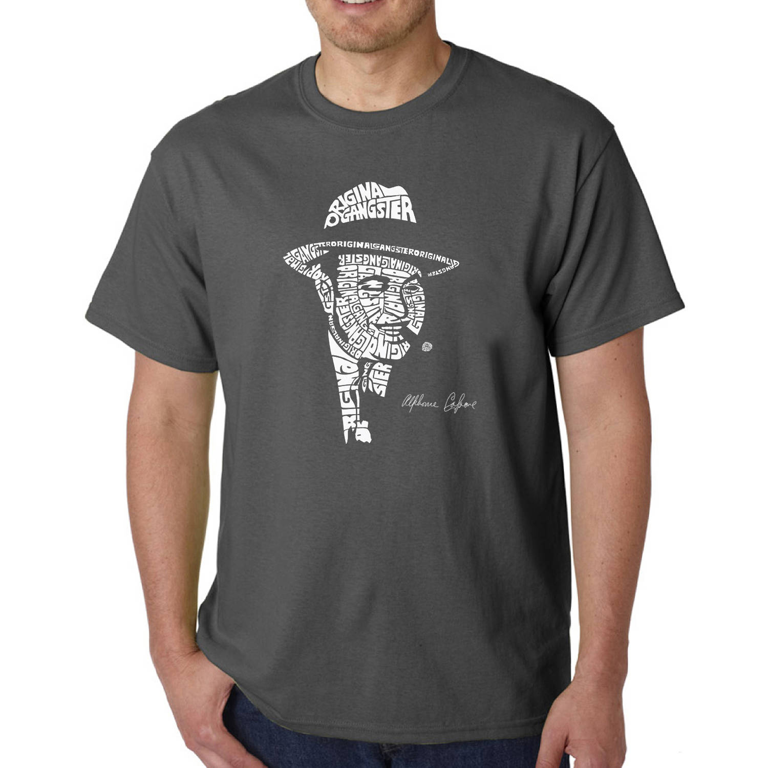Los Angeles Pop Art Big Men's T-shirt - Al Capone-Original Gangster