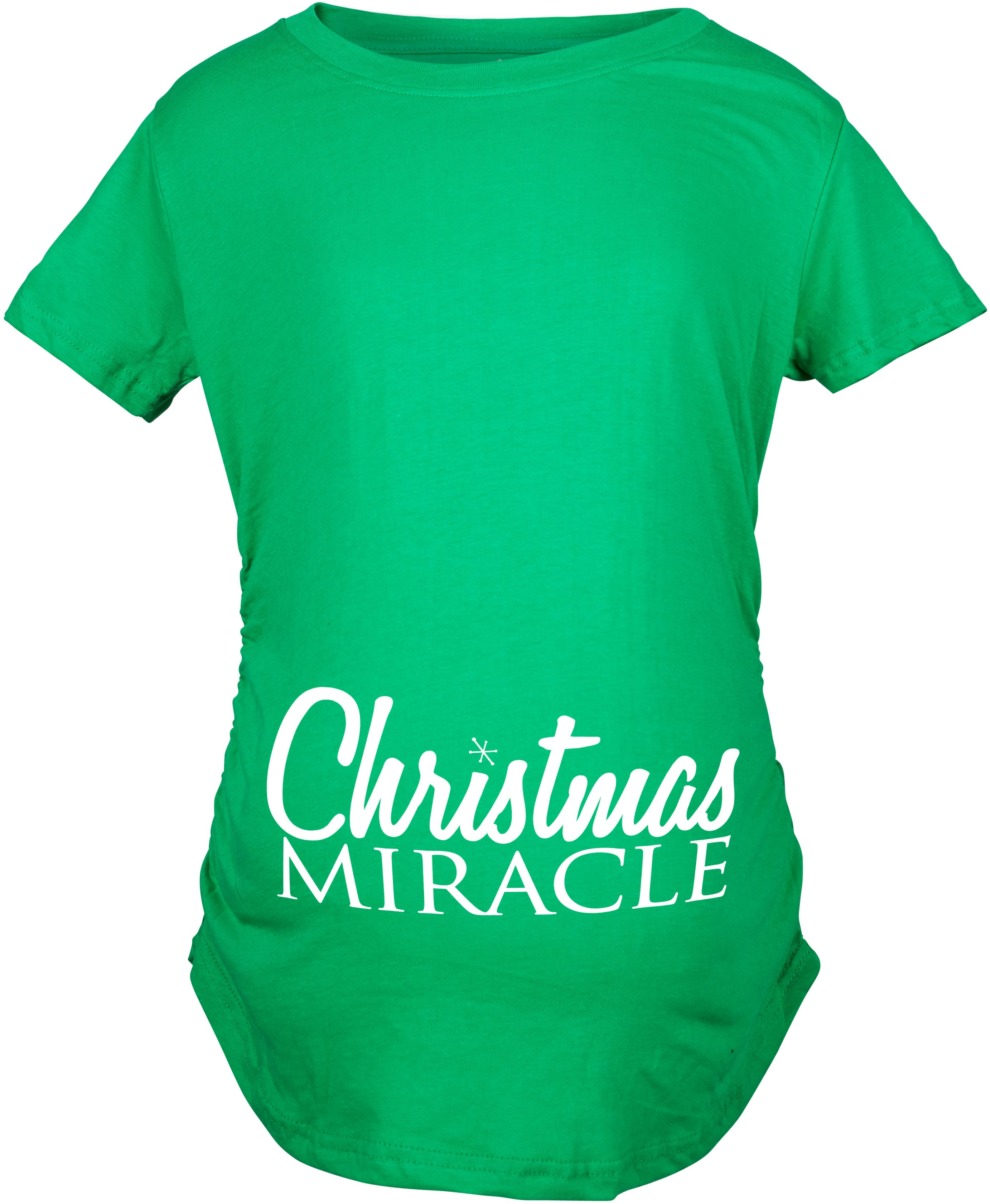 Crazy Dog TShirts - Maternity Christmas Miracle Cute Baby Announcement Pregnancy T shirt