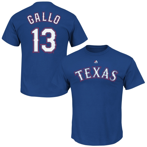 Joey Gallo Texas Rangers Majestic Official Name and Number T-Shirt - Royal