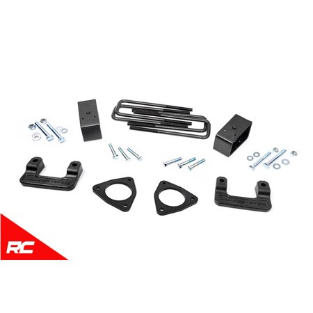 "Rough Country 2.5"" Leveling Kit compatible w/ 2007-2018 Chevy Silverado GMC Sierra 1500 Suspension System 1305"