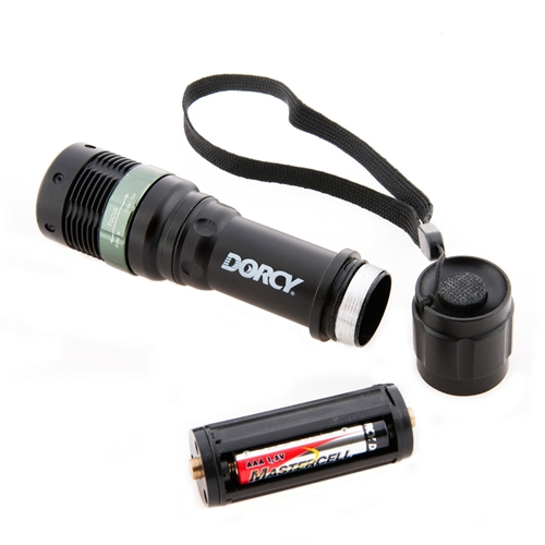 Dorcy 130 Lumens LED Water Resistant Optic Focusing Flashlight W/ Strobe 41-4280