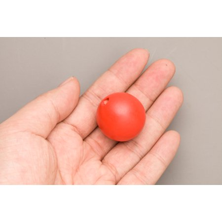 Red Wood Beads Round 30mm Sold Per Pkg Of 10 Beads](Red Plastic Beads)