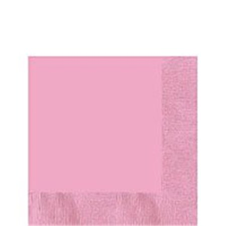 Amscan Party Perfect Bright and Pretty 3-Ply Luncheon Tableware Napkins (Pack Of 50), Pink, 6.7