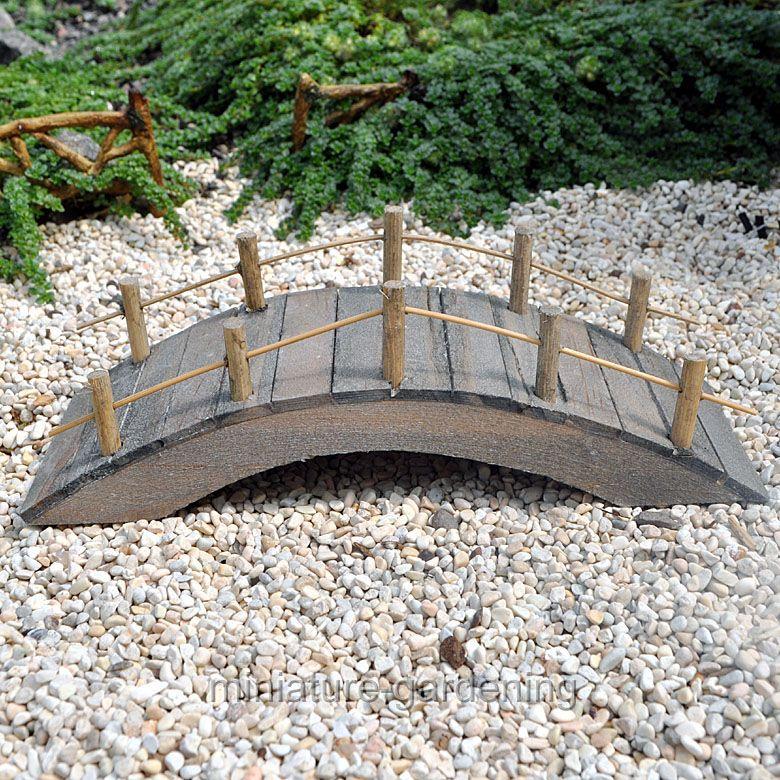 Land and Sea Wooden Bridge for Miniature Garden, Fairy Garden
