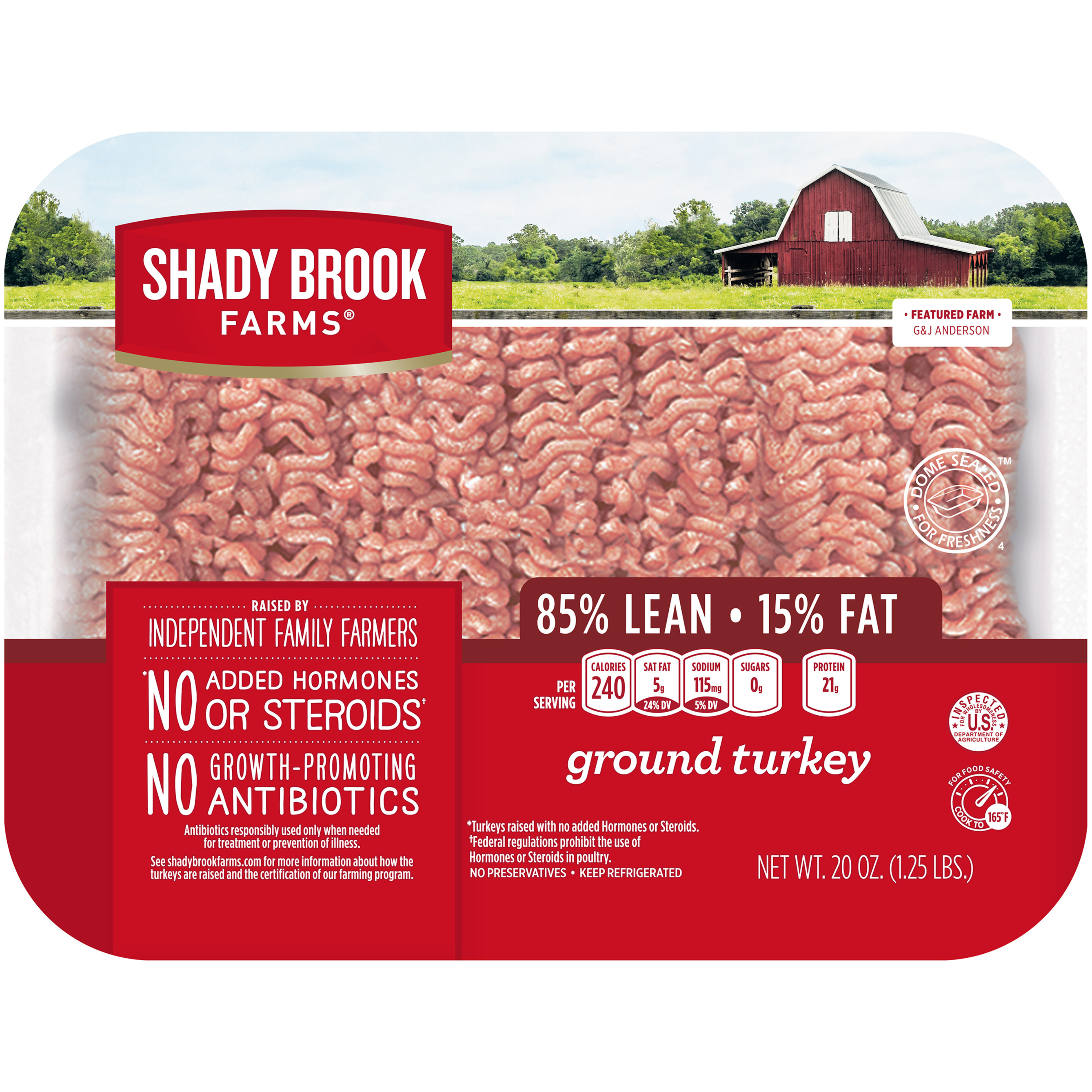 Shady Brook Farms® <mark>Fresh</mark> 85% Lean Ground <mark>Turkey</mark>