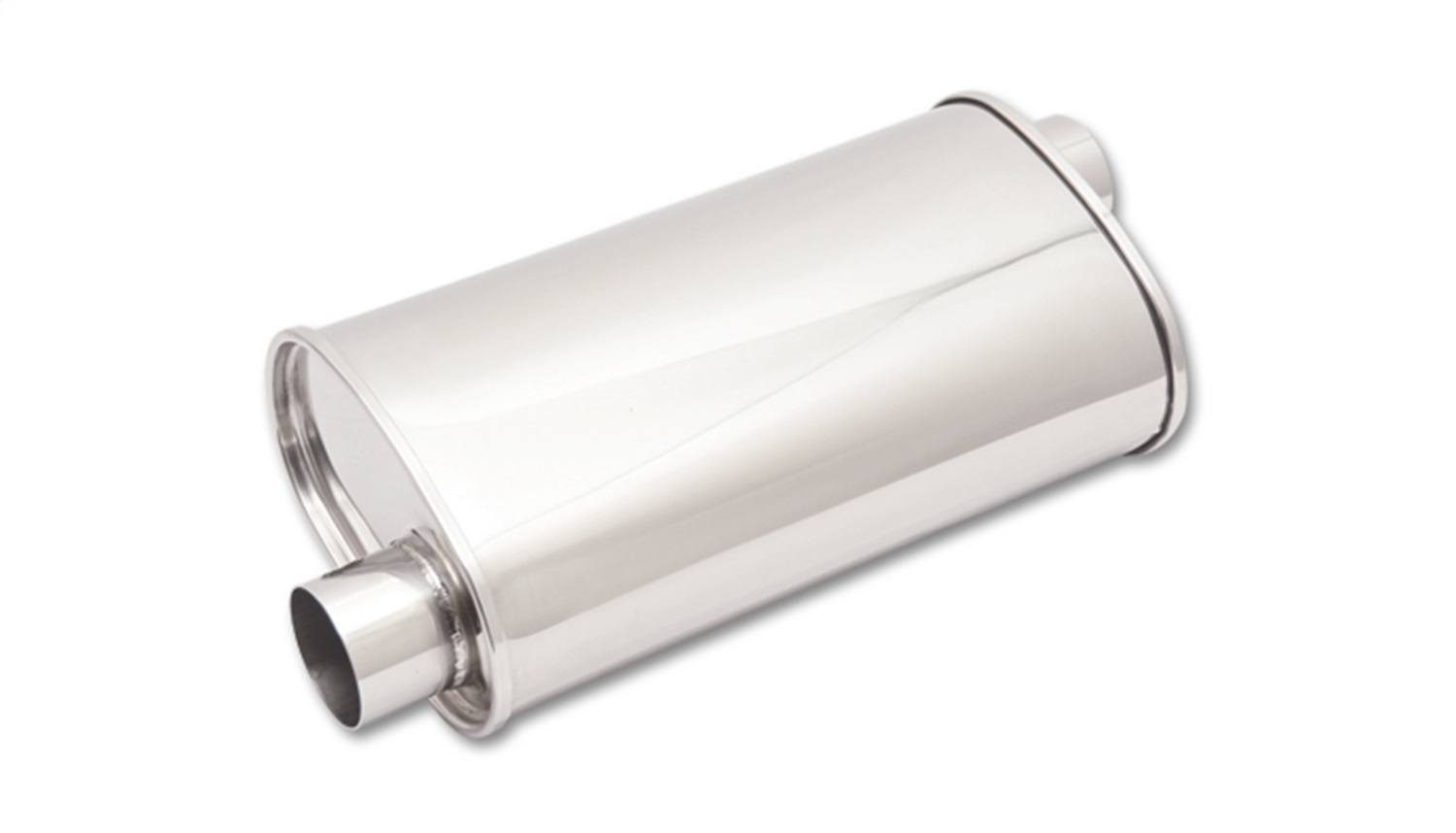 Offset Pipe Design Dual Oval Out 2 1//4 inch Inlet Exhaust Tips Stainless Steel