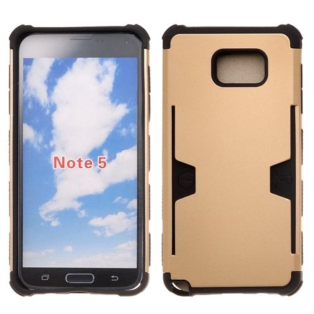 Galaxy Note 5 Case, Slim Hybrid [Card Slot Insert] Dual Layer [Shock Resistant] Case Cover for Samsung Galaxy Note 5 - Gold - Nunc Cell Culture Inserts