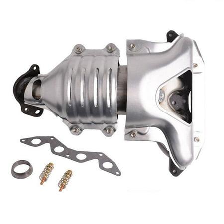 Catalytic Converter Exhaust Manifold for 2001 2002 2003 2004 2005 Honda Civic 1.7L DX LX CX VX Front (EPA Compliant) Honda Element 2003 Accessories