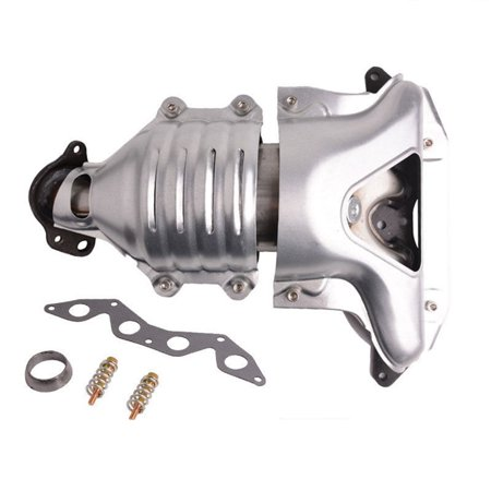 Catalytic Converter Exhaust Manifold for 2001 2002 2003 2004 2005 Honda Civic 1.7L Front (Evo Exhaust Manifold)